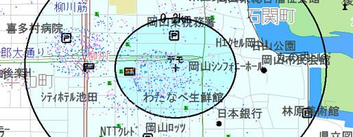 診療圏分析イメージ